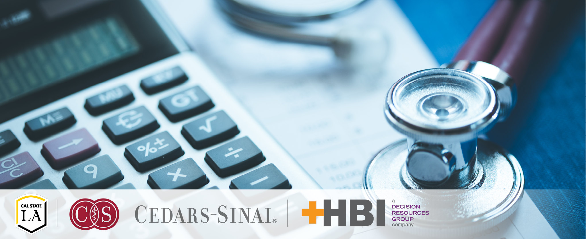 Healthcare Revenue Cycle Administration Program with keyboard and stethoscope images
