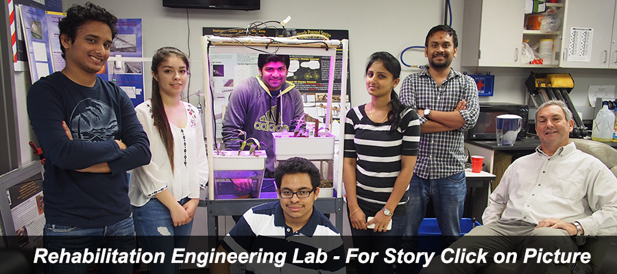 Rehab Engineering Lab - Students with Budding Aquaponics Research Project for Cambodia