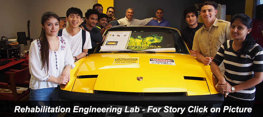 Rehab Engineering Lab - Students with Solar-Electric Porsche Project by Gilberto