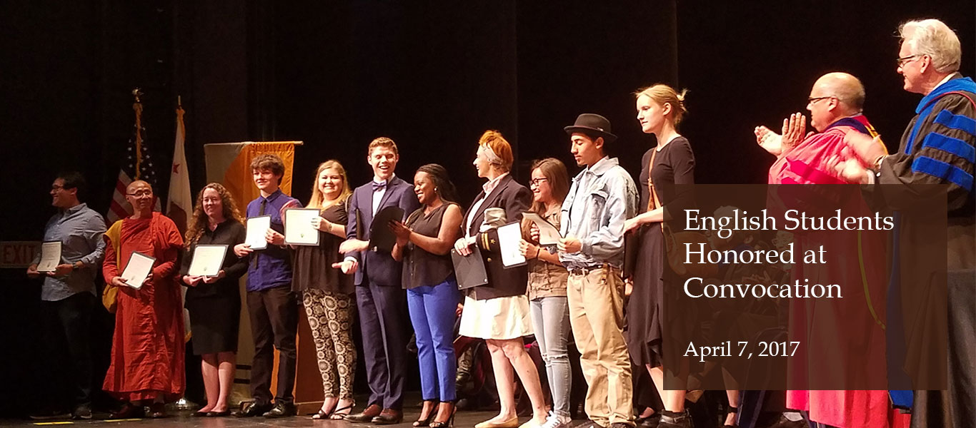 English Students Honored at Convocation