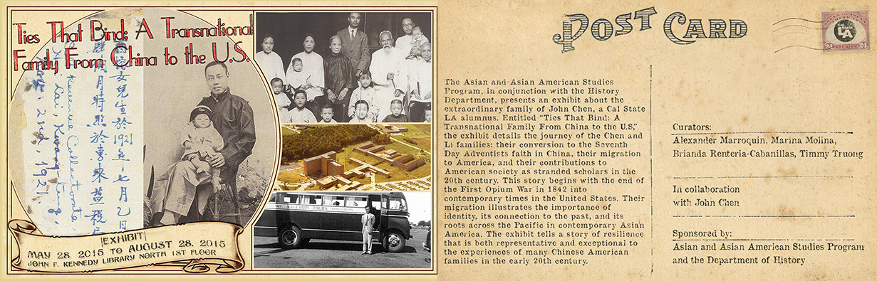 Chinese American Oral History Project - Exhibit Post Card