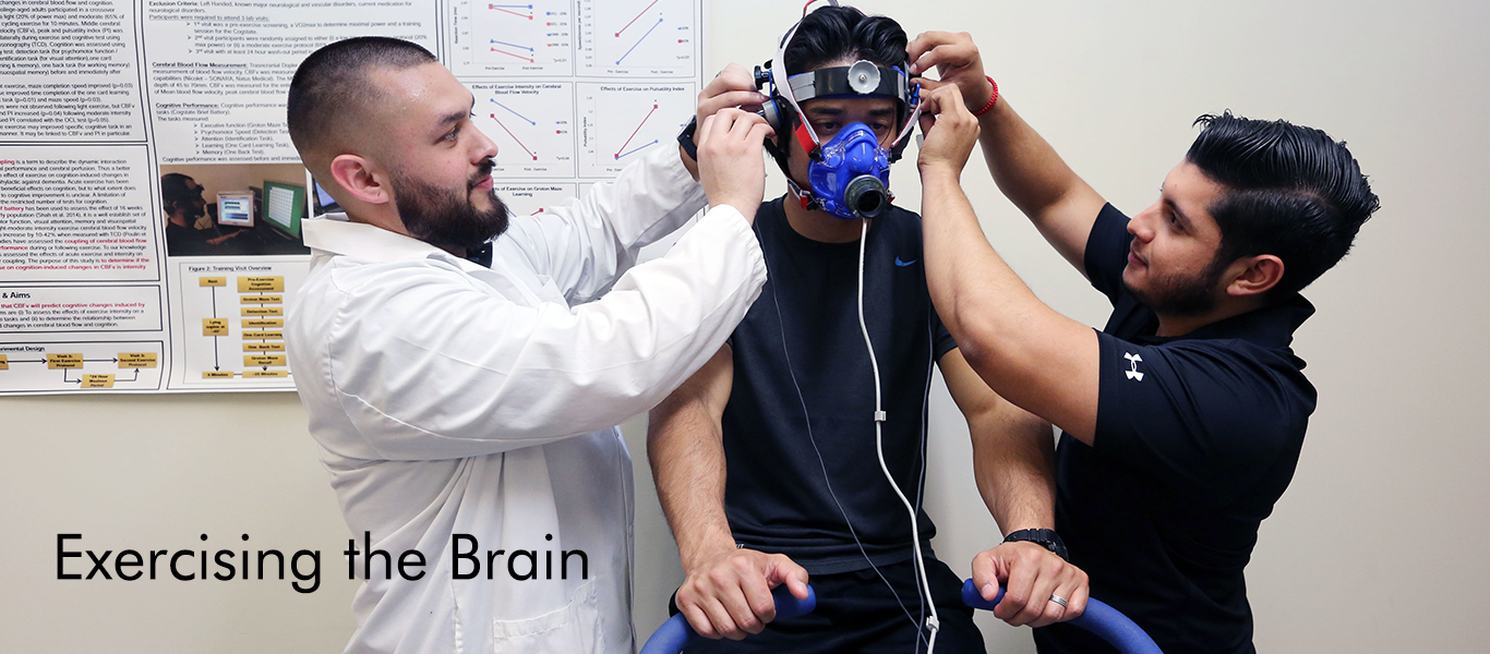 Gilbert Acosta, who recently defended his MS thesis studying the effects of exercise on the brain in the lab of Dr. Keslacy