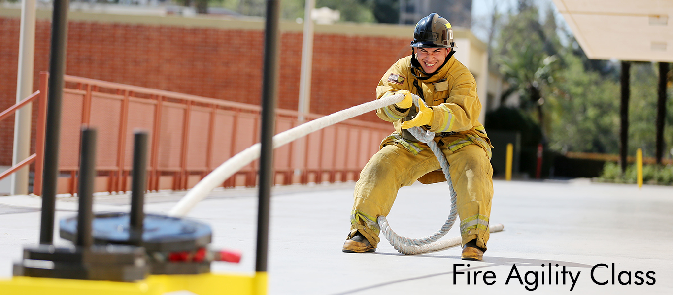 Future firefighters are getting in shape with the help of the KNS instructor Christine Hsieh.