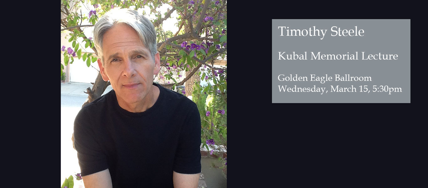 Timothy Steele to Deliver 2017 Kubal Lecture