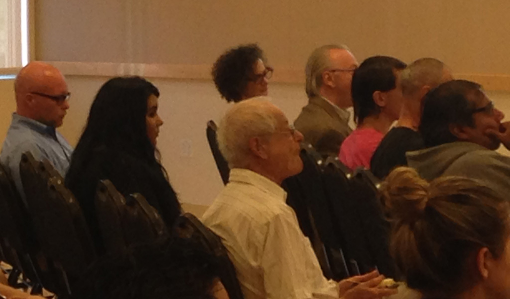 Kubal series founder and Professor Emeritus Peter Brier listens to introductions