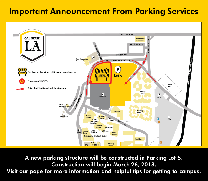 Important Information on Spring 2019 Parking