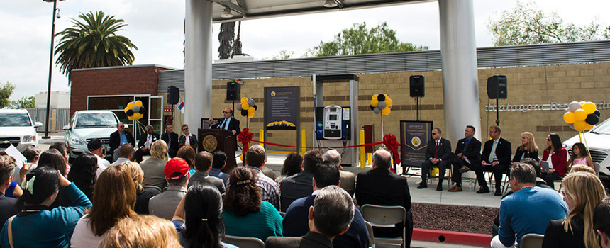 Station ribbon cutting, May 7, 2014