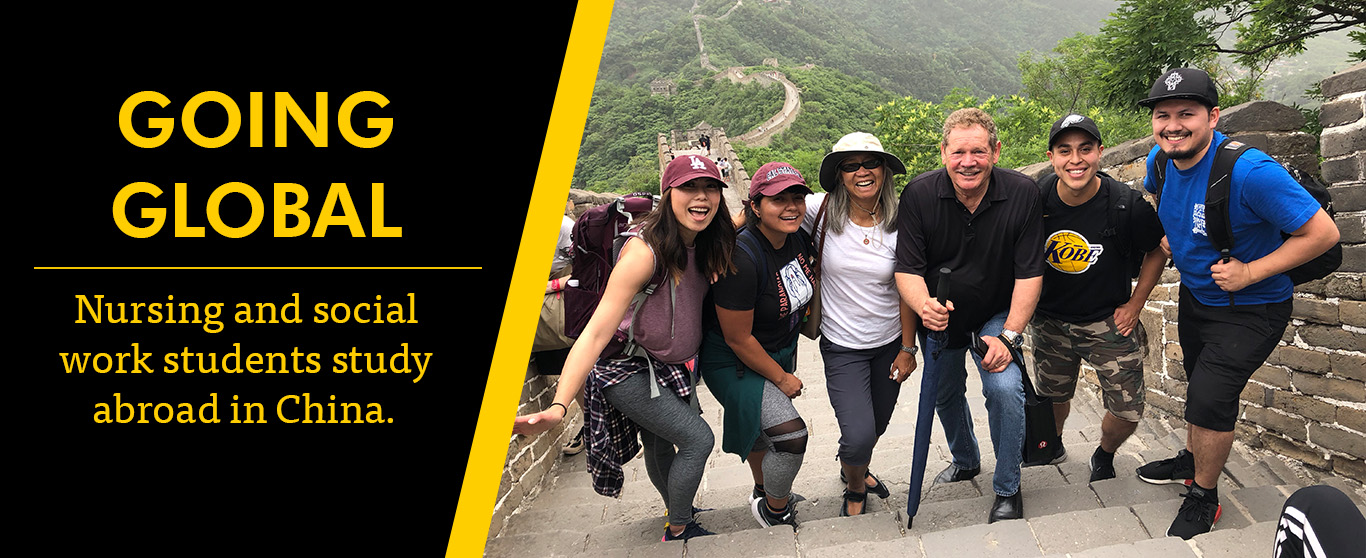 Dean, Associate Dean and students visit Great Wall of China.