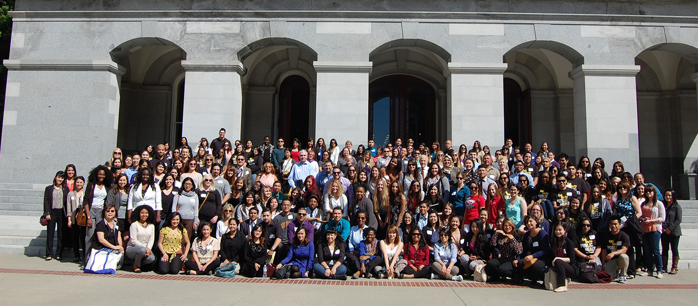 190 CSU Students and Faculty on the State Capitol Steps During a Two CSU Health Policy Conference Organized by the Cal State LA