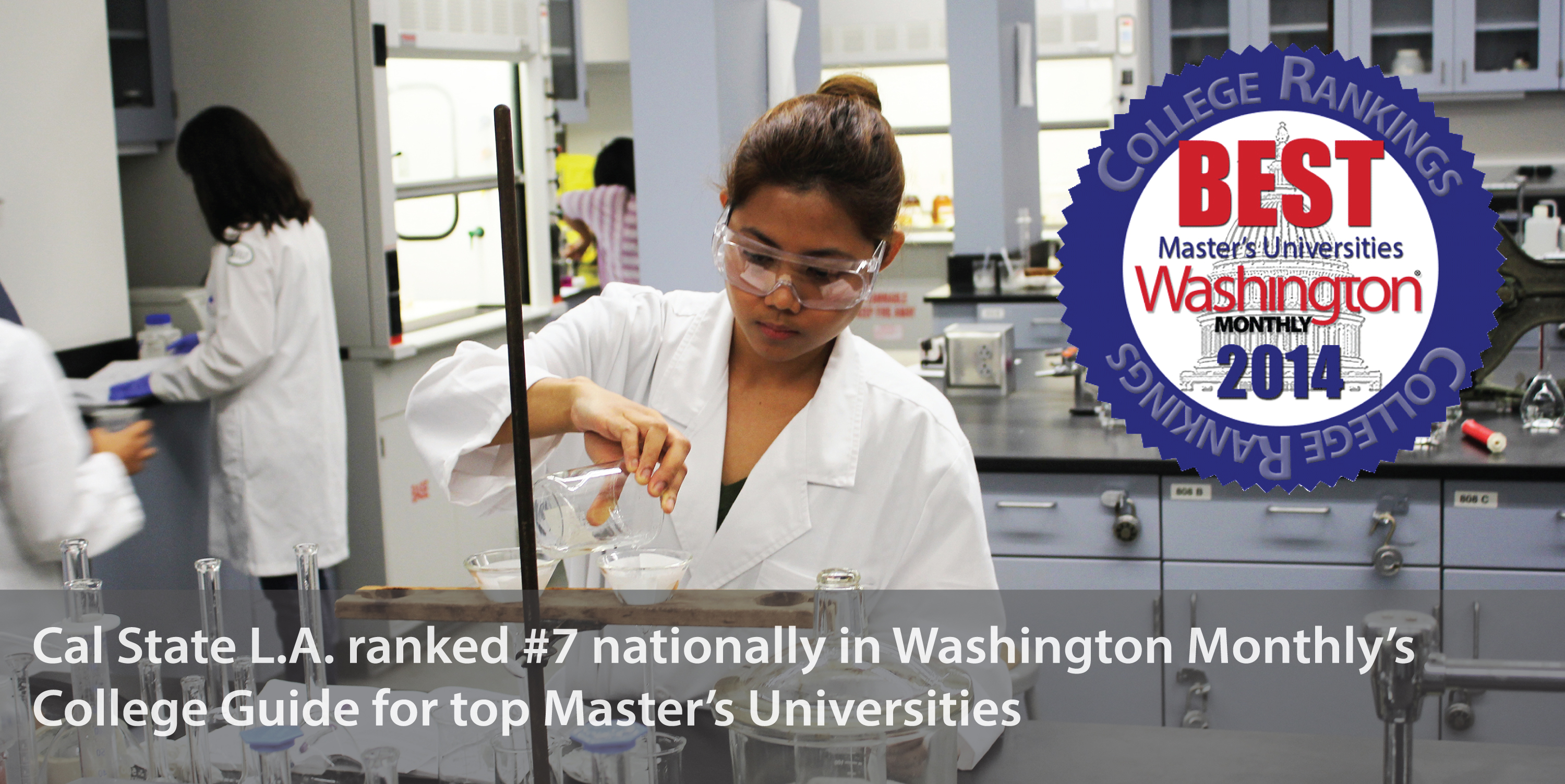 Cal state L.A. ranked number 7 in Washington Monthly