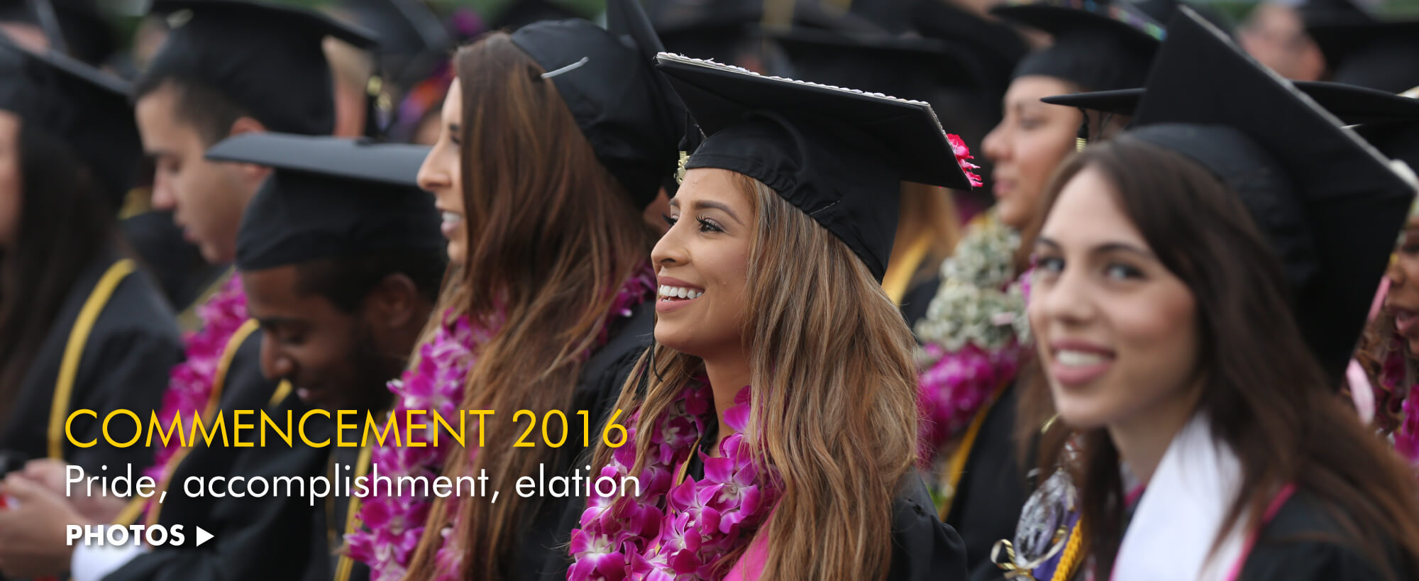 Pride, accomplishment, elation. Click for commencement photos