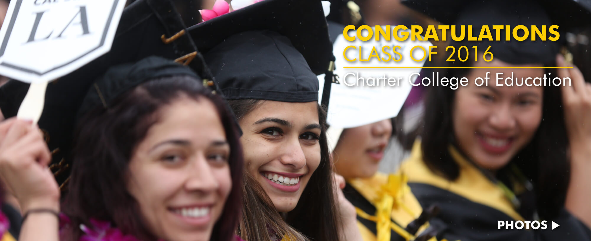 Congratulations Class of 2016: Charter College of Education