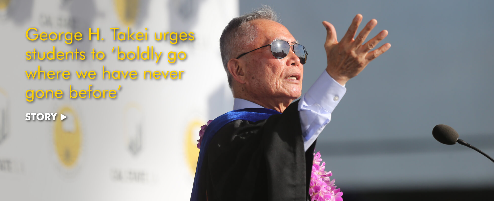 George H. Takei  urges students to 'boldly go where we have never gone before'