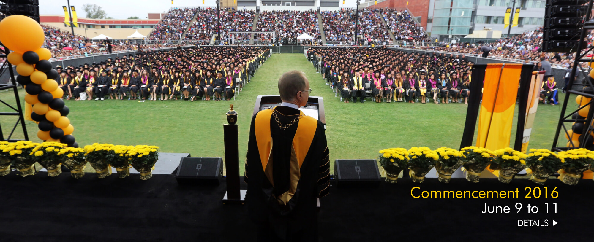 Save the Date commencement schedule
