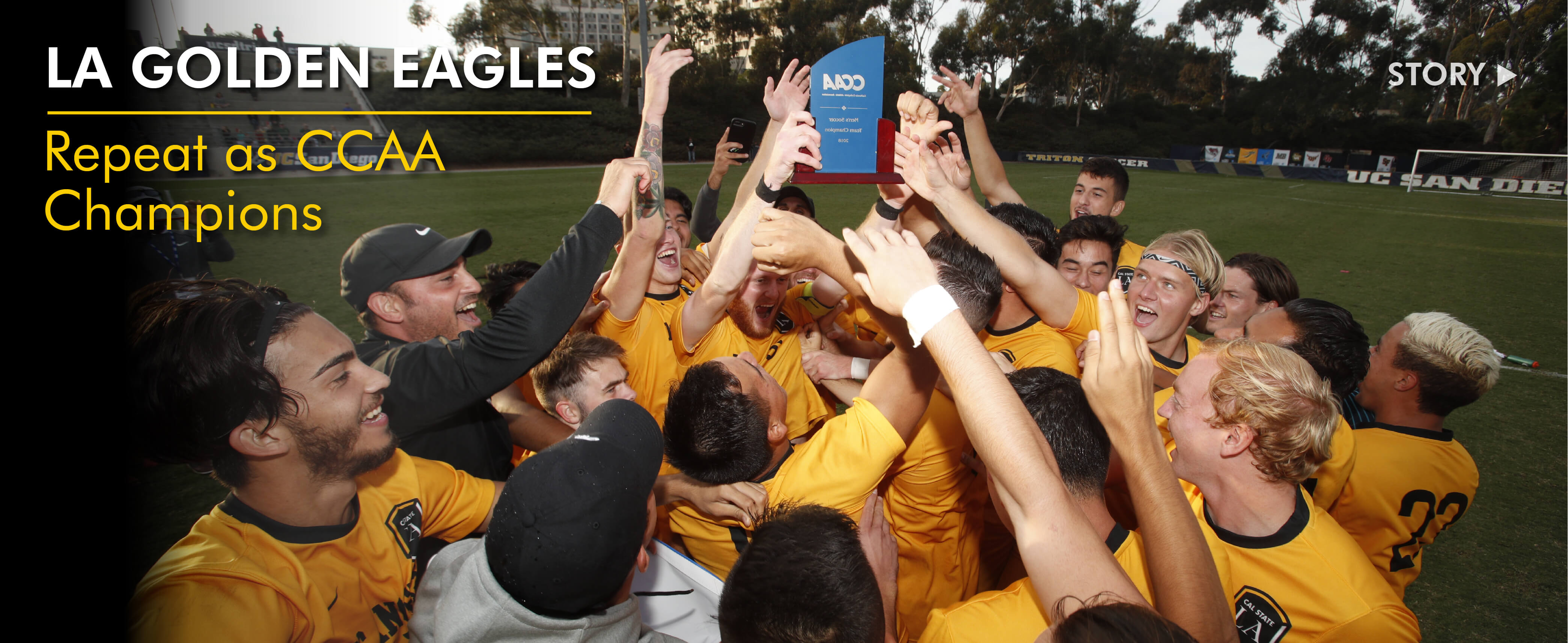 LA Golden Eagles Repeat as CCAA Champions. Click to read story