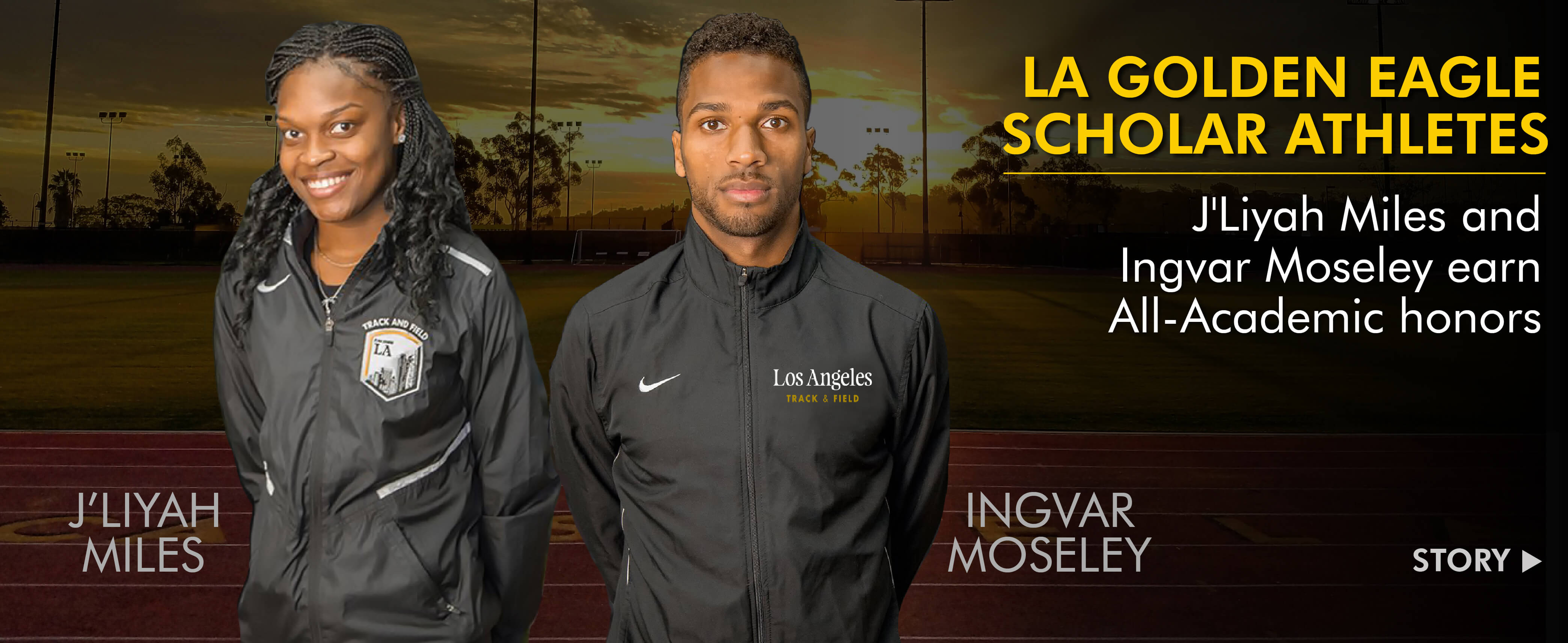 Miles and Moseley Earn USTFCCCA Academic Awards