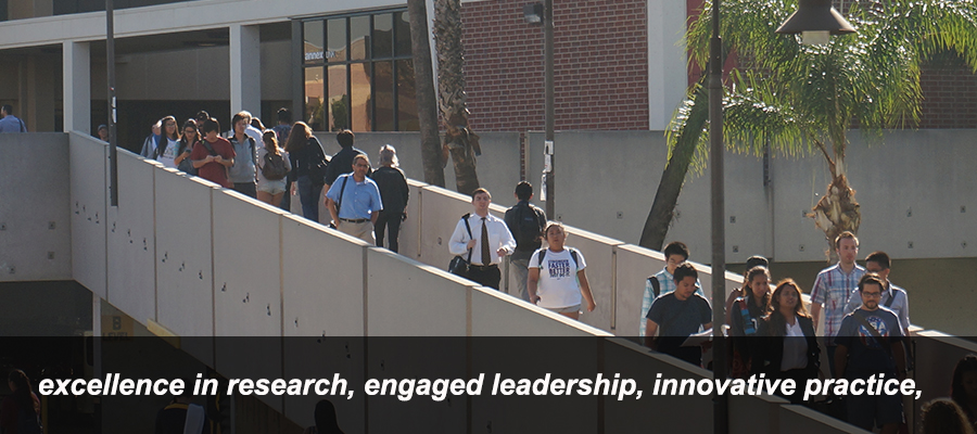 excellence in research, engaged leadership, innovative practice,