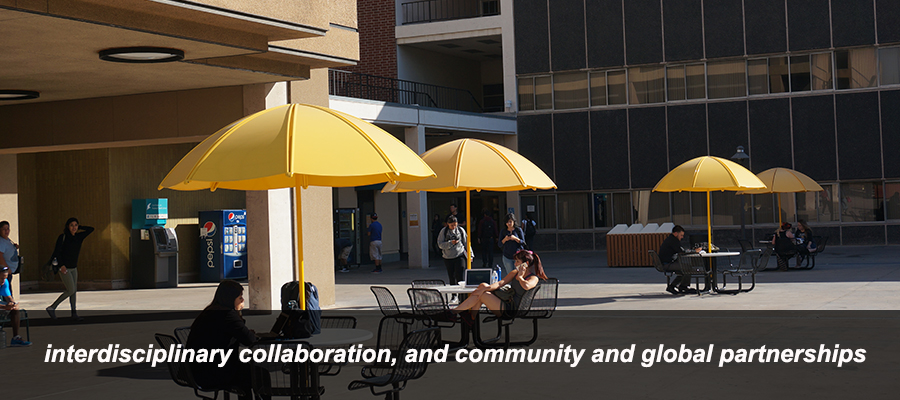 interdisciplinary collaboration, and community and global partnerships.