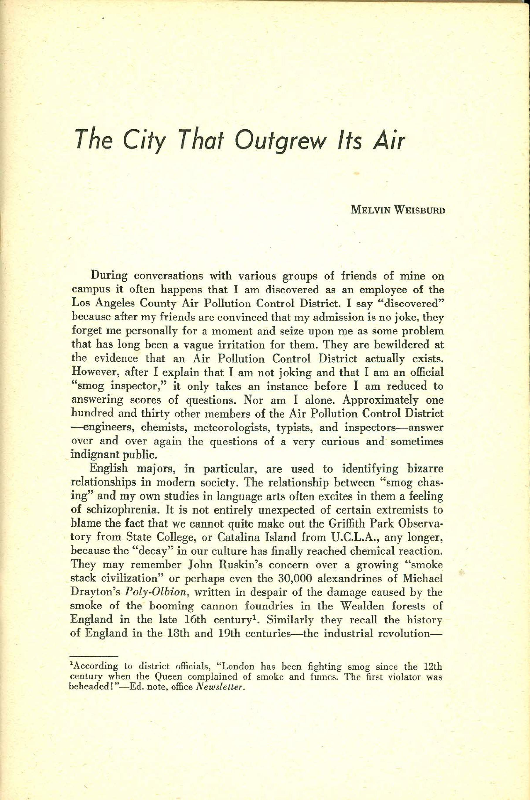 Statement Magazine Fall 1953 Page 01