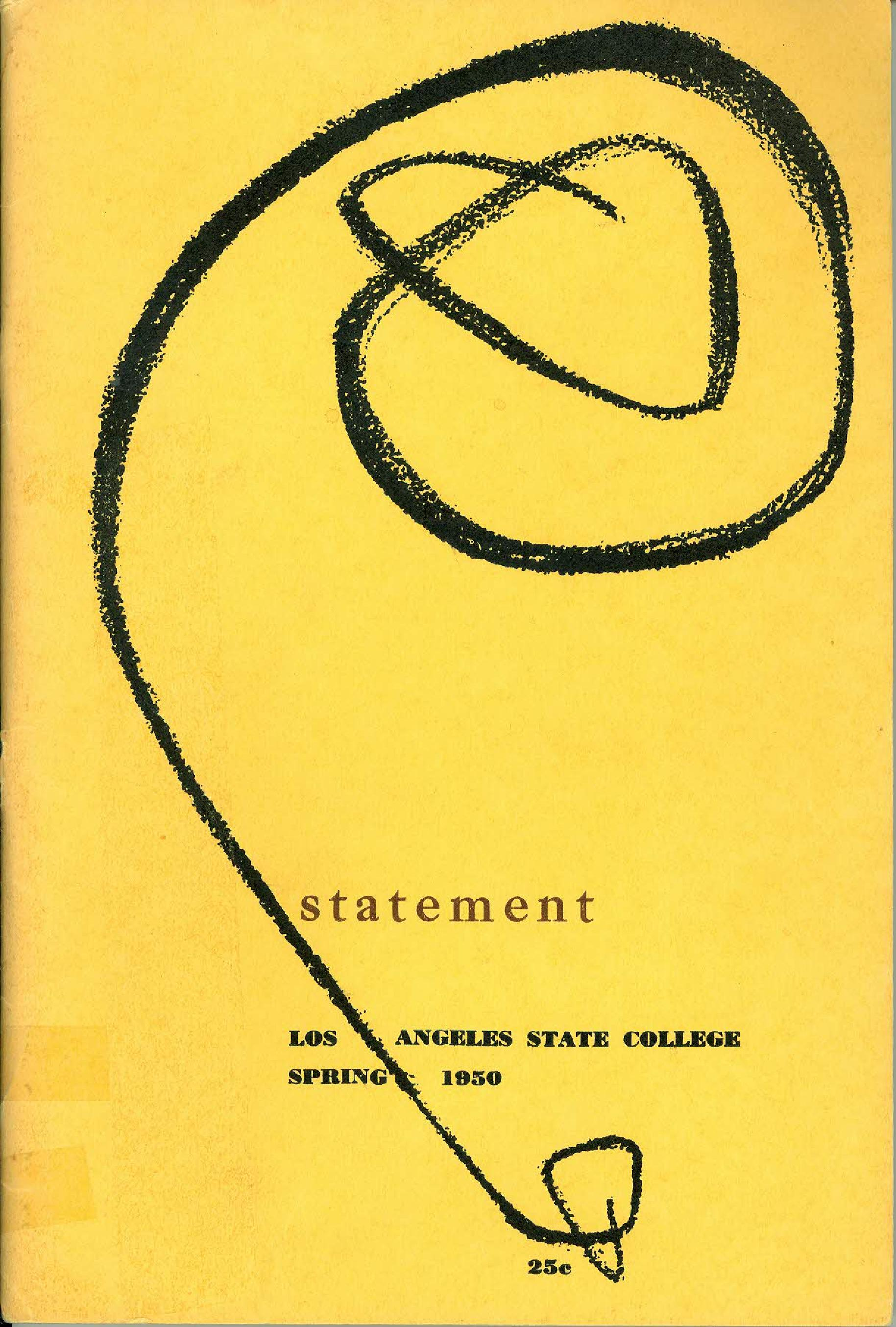Statement Magazine 1950 Front Cover