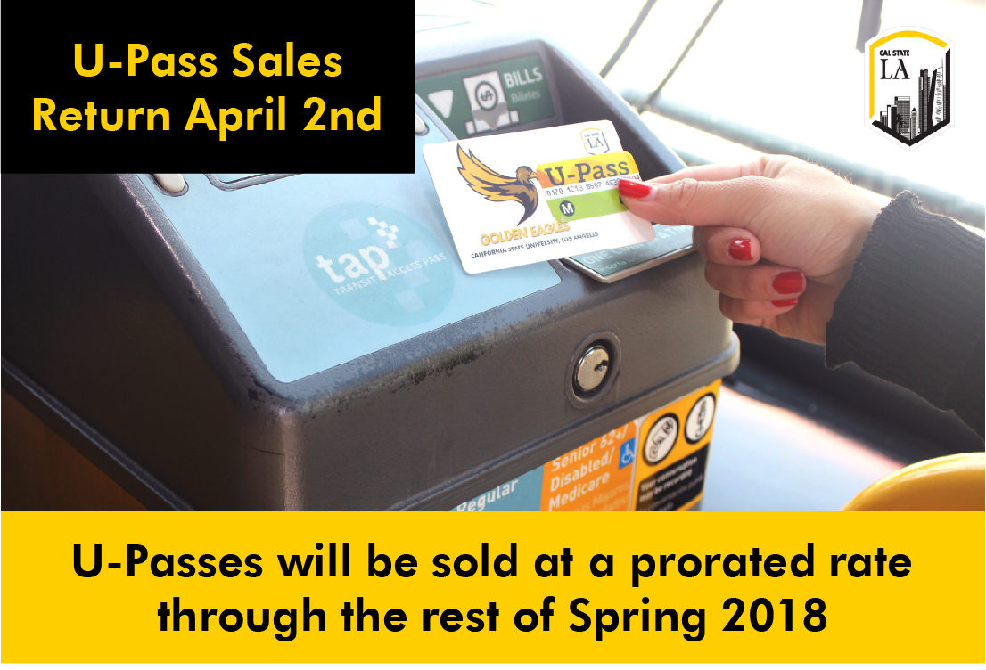 Spring 2018 U-Pass returns at a prorated rate