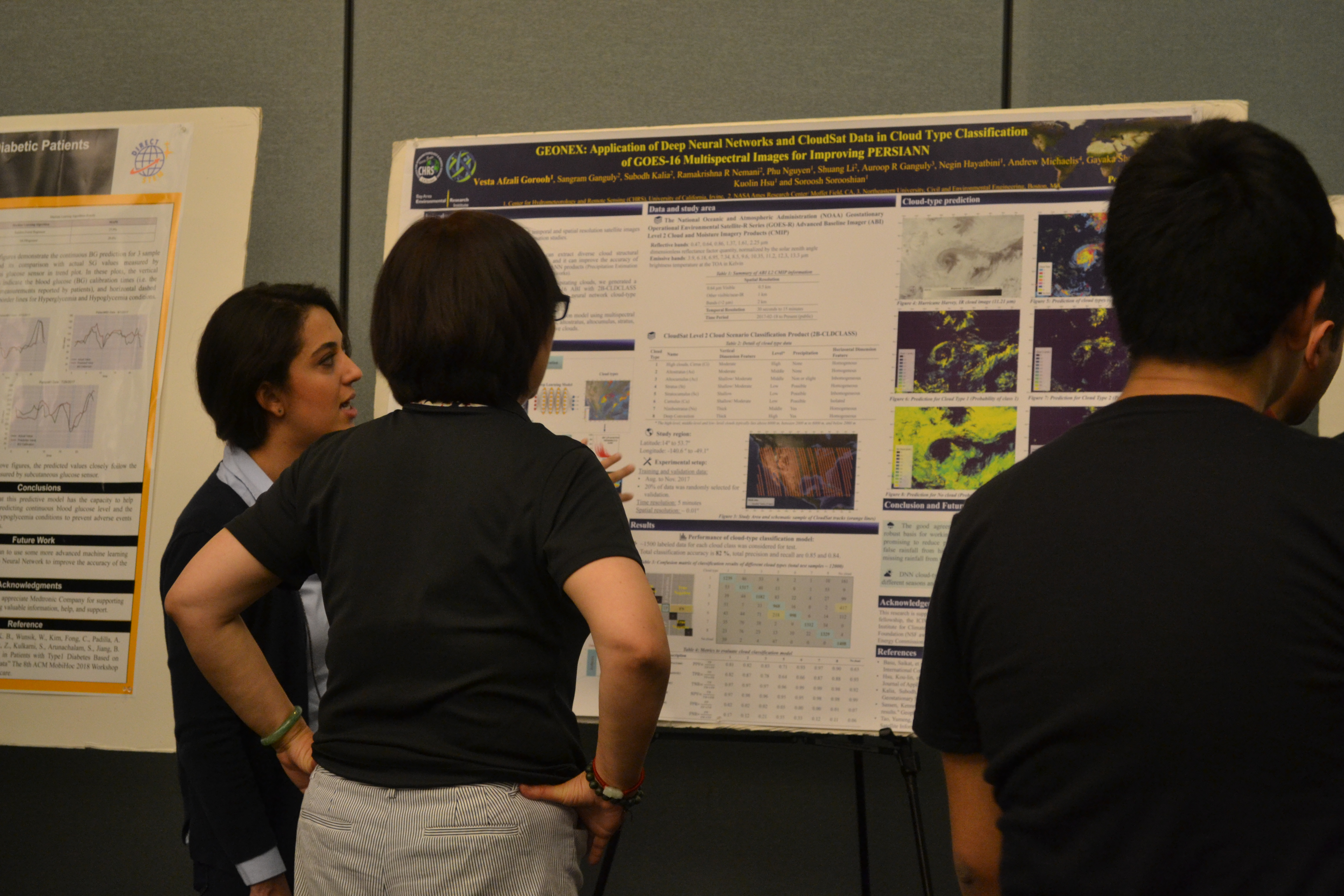 Vesta Afzali Gorooh explaining her research poster at the 4th Annual NASA DIRECT-STEM Research Symposium