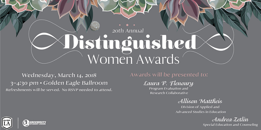 Three CCOE Recipients of the 20th Annual Distinguished Women Awards