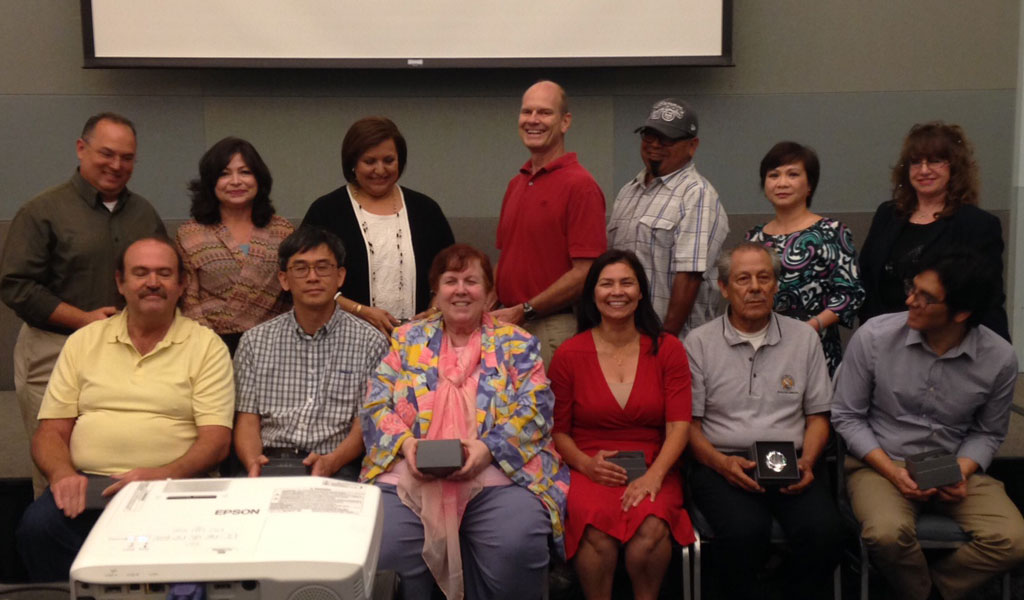 Yolanda Galvan (front, 3rd from right) joins 25-year service awardees at CSULA Staff Appreciation Brunch