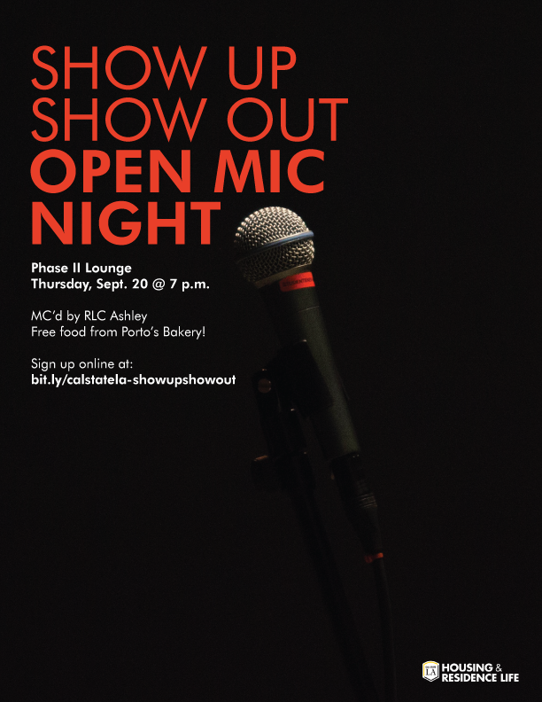 Show Up Show Out Open Mic Night