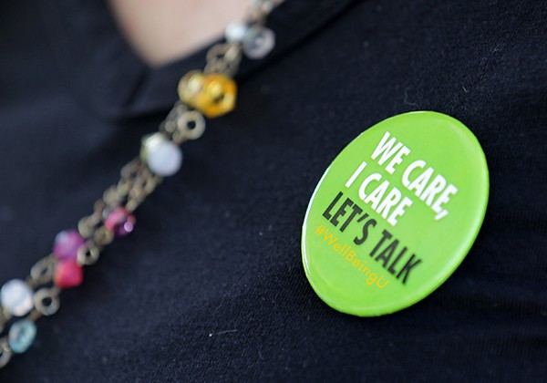 We Care, I Care, Let's Talk button
