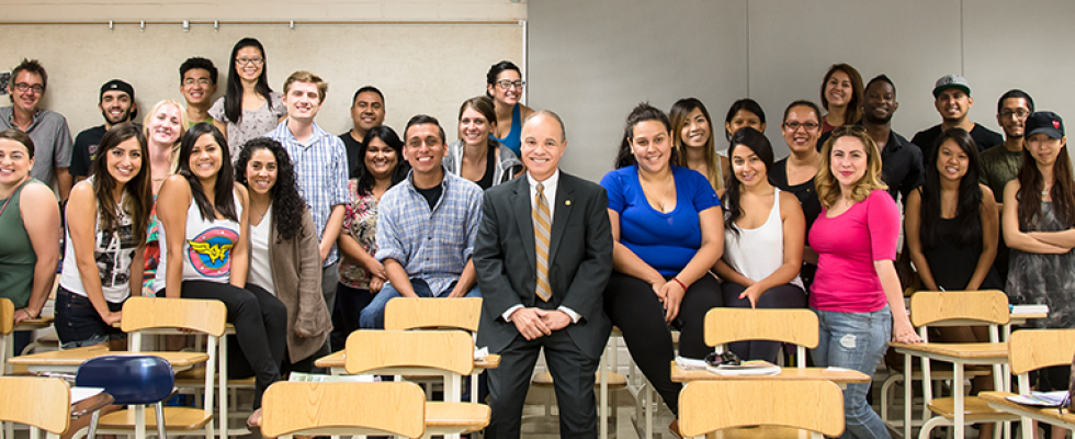 President William A. Covino recently guest lectured at a Communications Studies course.