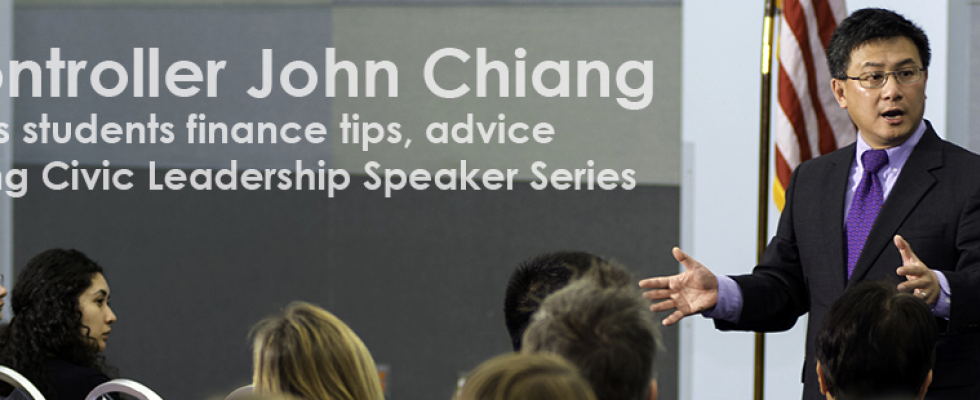 Controller John Chiang lectures on financial literacy