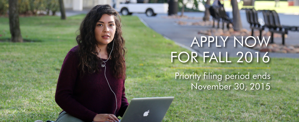 Apply now. Priority filing period ends November 30, 2015