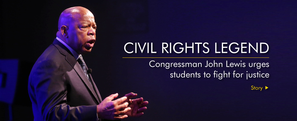 Congressman John Lewis urges students to fight for justice