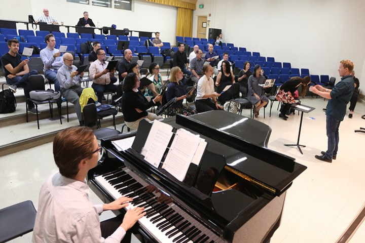 Photo of Master in Music Choral Conducting class