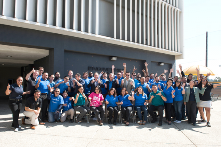 Boeing and Cal State LA ECST teams celebrating the end of a successful 2019 event.