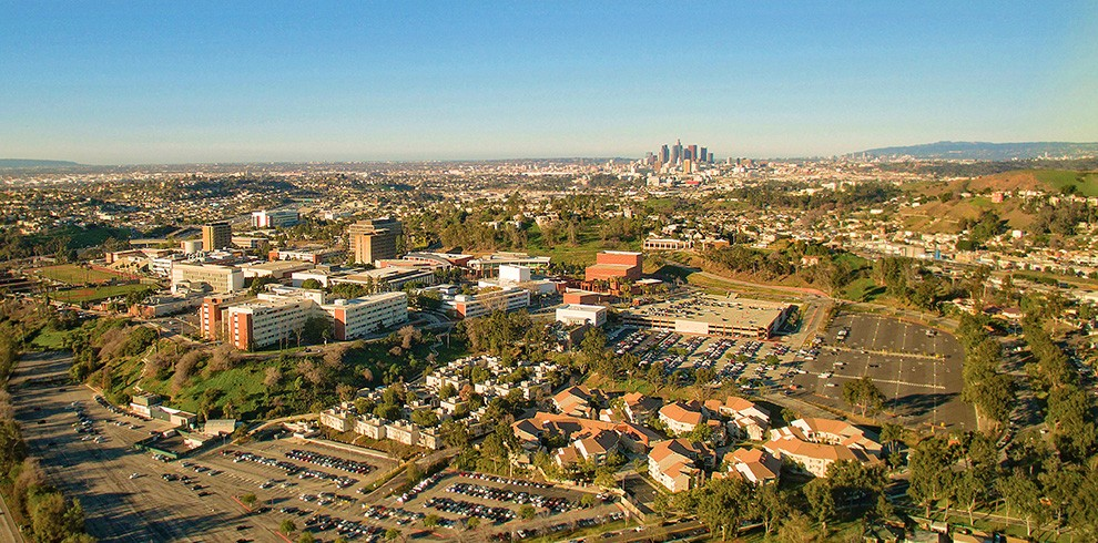 Cal State LA and Los Angeles downtown skyline