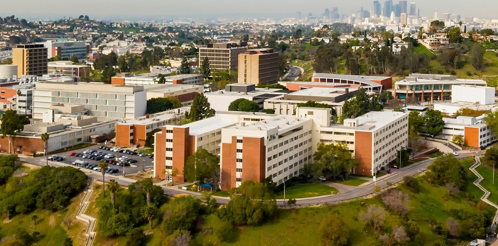 Aerial view of Cal State LA