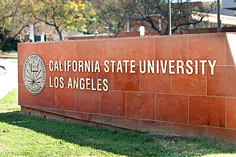 California State University, Los Angeles entry sign