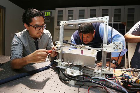 Engineering students at Cal State LA.