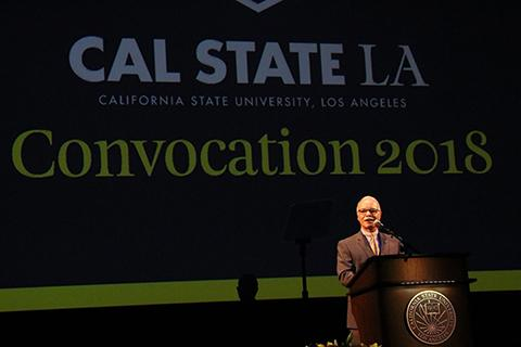 President Covino speaks at Fall Convocation