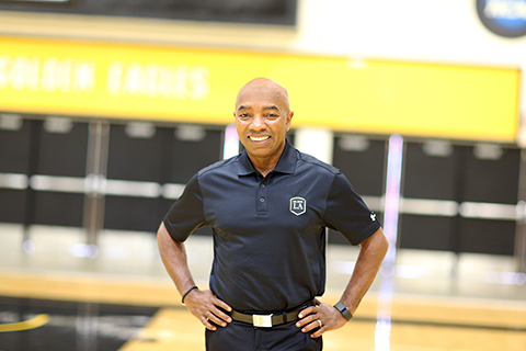 Daryl Gross at the Cal State LA gym