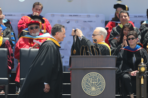 George Pla and President Covino