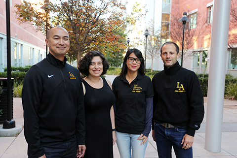 Faculty members who are part of the kinesiology grant team at Cal State LA.