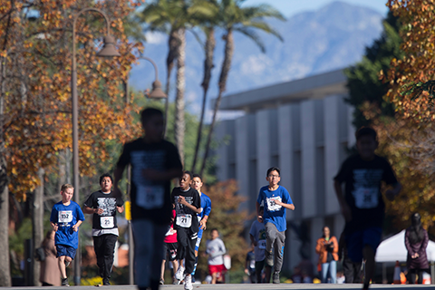 Runners participating in the LA84 Run4Fun Festival at Cal State LA.
