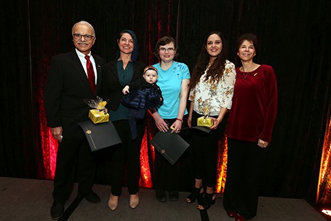 President Covino and First Lady Covino with the Mind Matters Champions