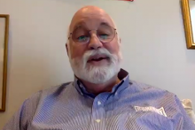 Father Boyle speaks during Zoom