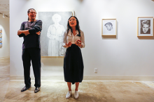Mark Steven Greenfield and Mika Cho at the Cal State LA Fine Arts Gallery.