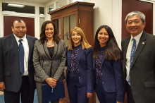 Cal State LA team meets with Senator Kamala Harris.