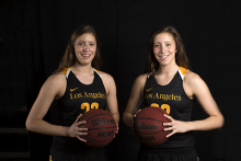 For Rachael and Rebeccah DiRegolo, basketball is a family affair